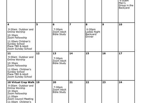 Church Calendar: October 2020 at a Glance