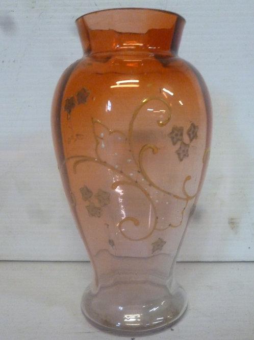 Victorian enamelled glass vase