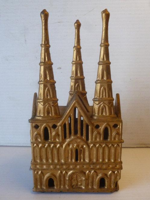 Victorian cast iron church money box