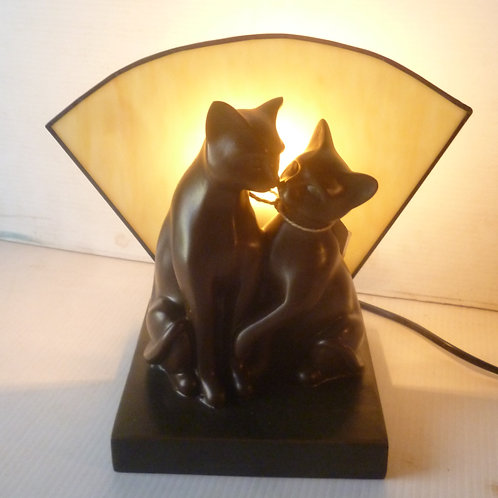 Deco twin cat table Lamp reproduction