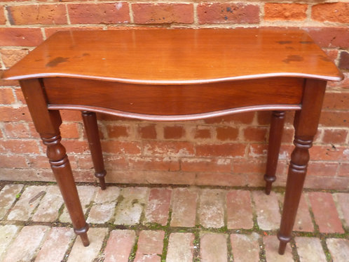 Victorian cedar bow front hall table