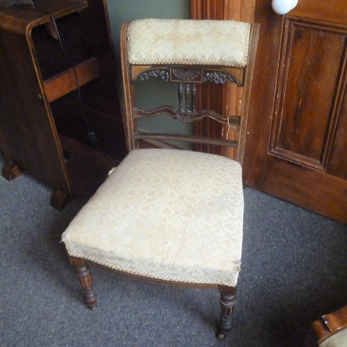 Victorian inlaid rosewood nursing chair