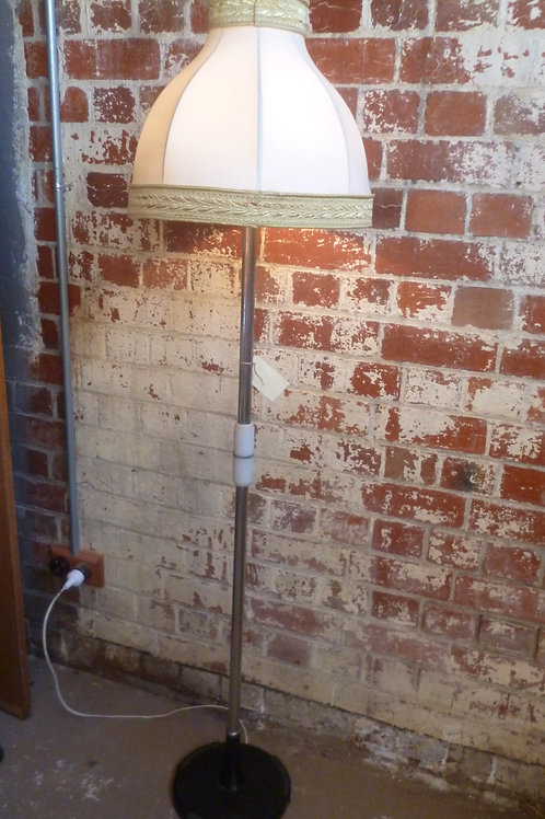 Art deco chrome and bakelite standard lamp