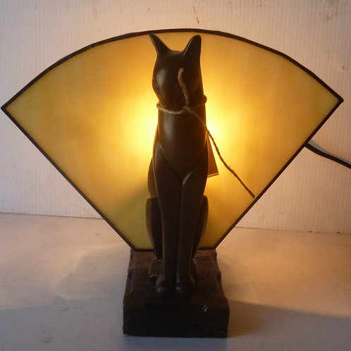 Deco single  cat table Lamp left hand  reproduction