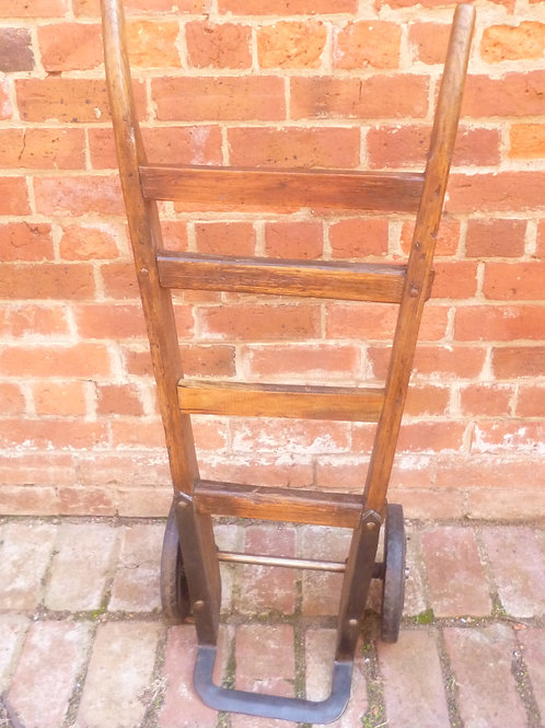 Restored old hardwood hand truck