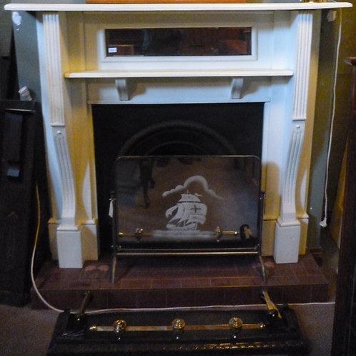 Edwardian kauri pine fire surround painted