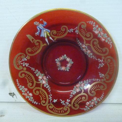 Victorian enamelled glass bowl