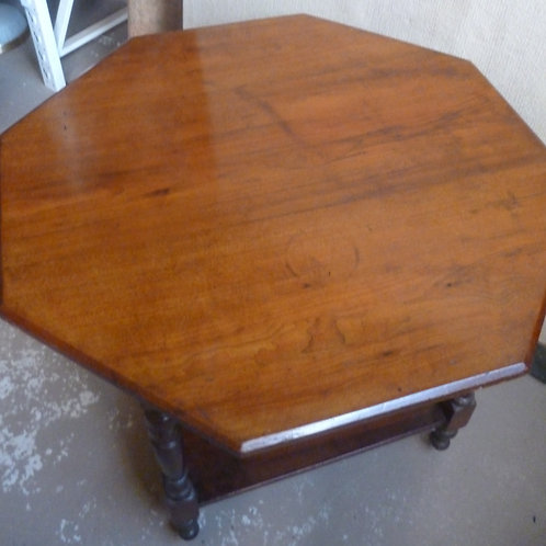 Edwardian walnut octagonal occasional table
