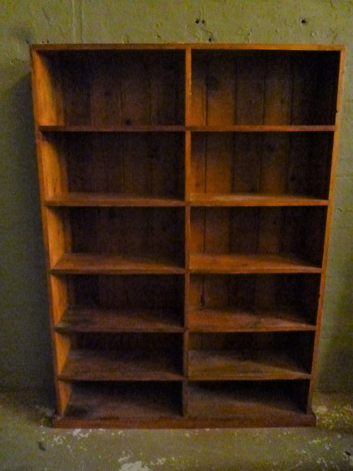Restored colonial Australian pine shop shelves