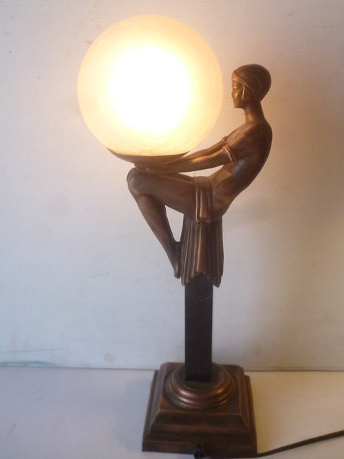 Bretnall deco style table lamp from the 1980's