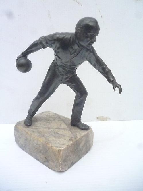 Original Victorian Bronze bowler figure