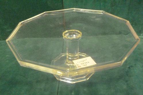 Vintage large pressed glass comport