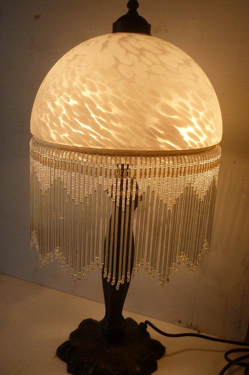 Table lamp tall 30 cm beaded shade