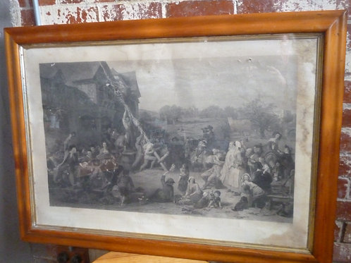 Large steel engraving in Huon pine frame
