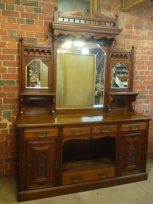 Late Victorian walnut sideboard