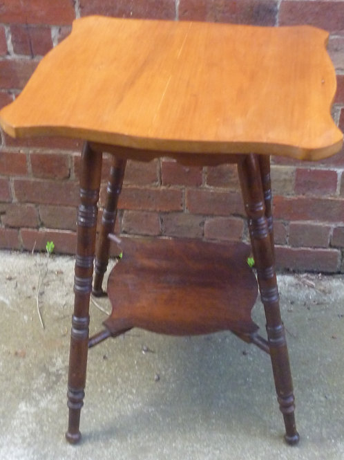 Edwardian pine and blackwood occasional table