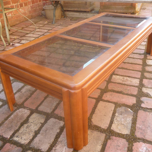 Retro coffee table with smoked glass top