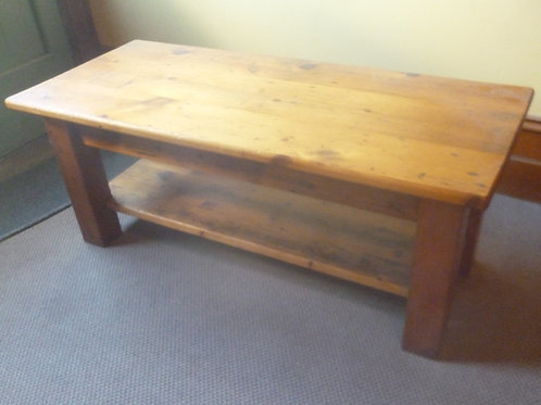 Vintage sugar pine coffee table