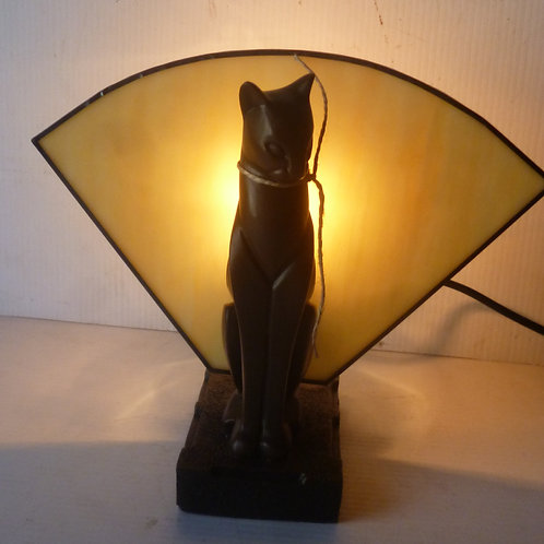 Deco single  cat table Lamp right hand reproduction