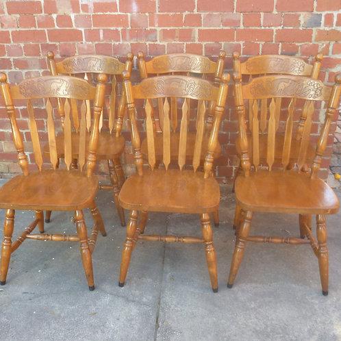 Set of six Kangaroo chairs