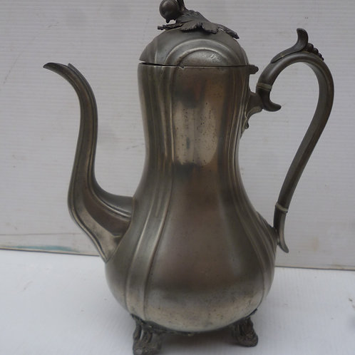 Victorian pewter coffee pot by James Dixon Sheffield