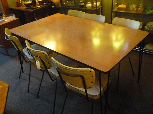 Retro Laminex table and 6 chairs