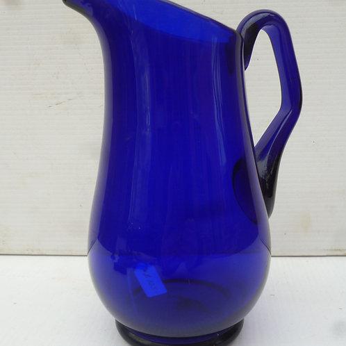Victorian Bristol blue glass jug