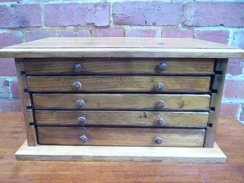 Antique pine jewellery drawers