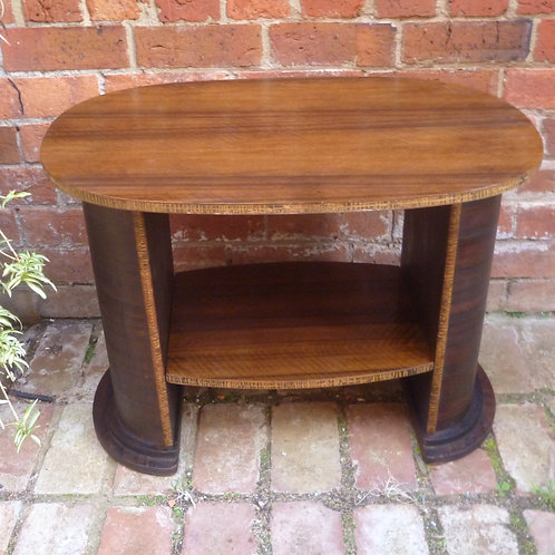 Art Deco walnut occasional table
