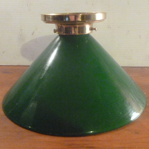 """Green 10"""" glass coolie with batton fix gallery"""