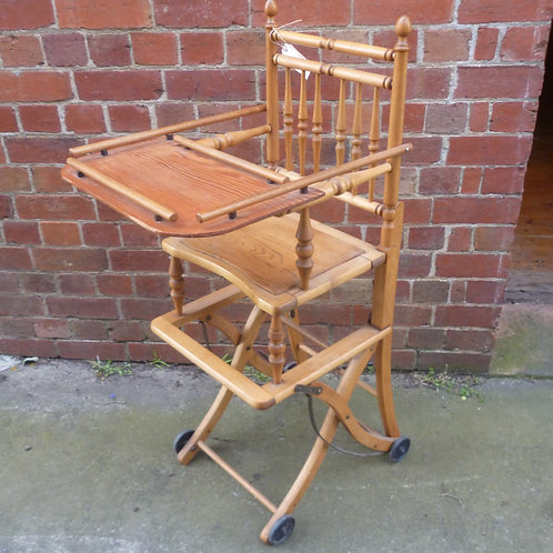 Restored 19th c high low chair