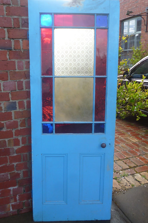 Vestibule coloured glass small door