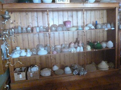 Large Antique pine shop shelves