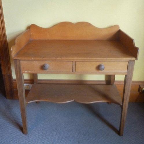 Early Australian pine and hardwood desk table