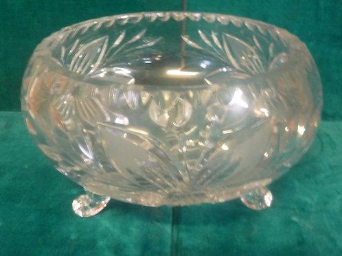 Vintage cut crystal footed bowl