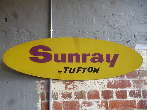 Retro Sunray Tennis sign