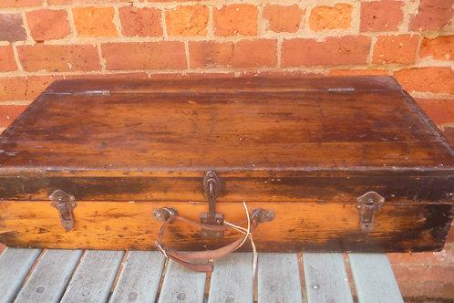 Restored pine tool chest