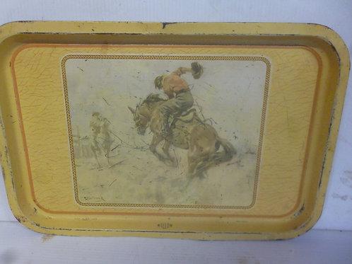 Original Australian Willow tray with bush painting