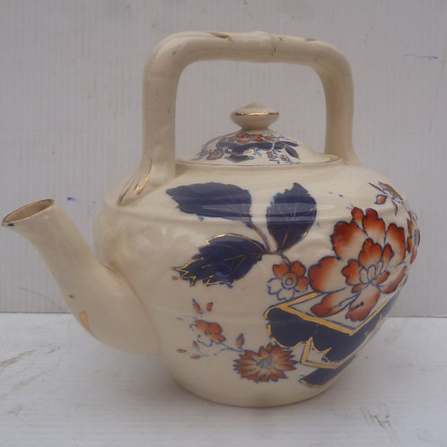 Ironstone ceramic teapot
