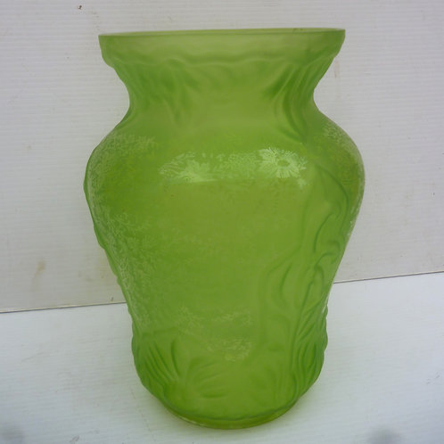 Reproduction Duplex oil lamp shade tall etched