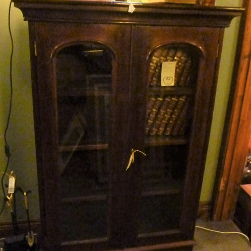 Early Australian 2 door cedar bookcase