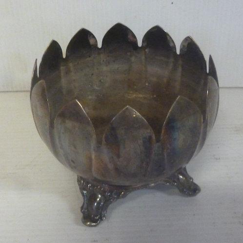 Vintage silver plate footed vase