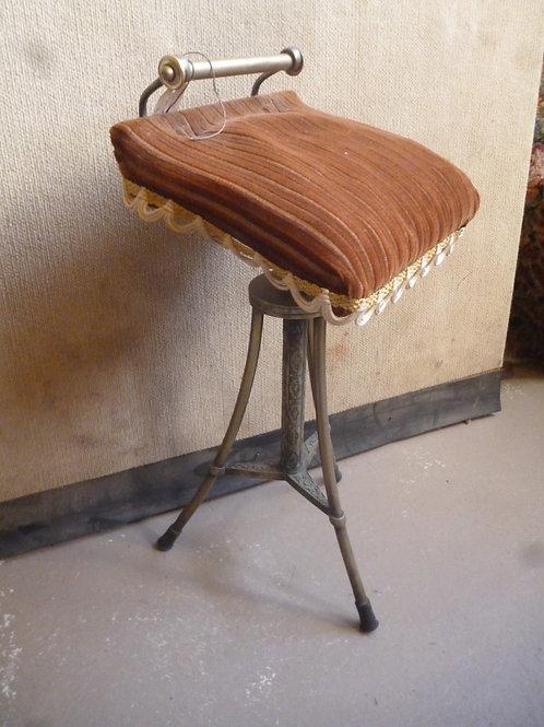 Victorian brass Nicholson's Patent organ stool