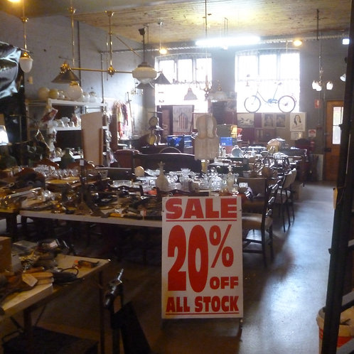 20% off sale whole room of stock to clear