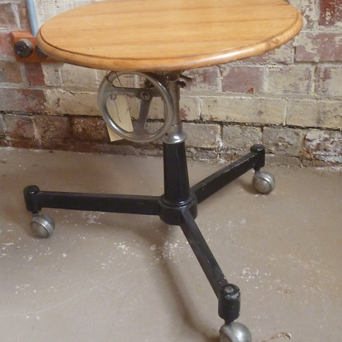 Industrial steel and hardwood table stand
