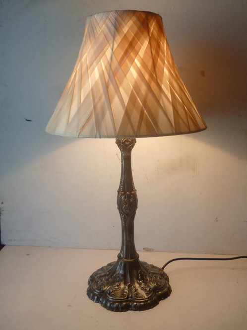 Antique French spelter metal table lamp