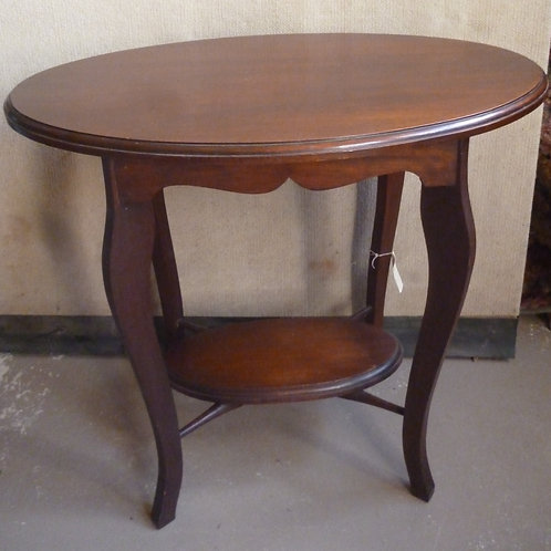 Edwardian walnut oval occasional table
