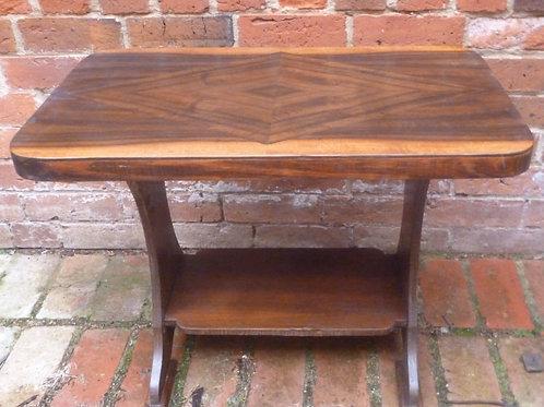 Art Deco walnut occasional table