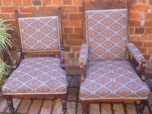 Pair of Edwardian Kauri arm chairs