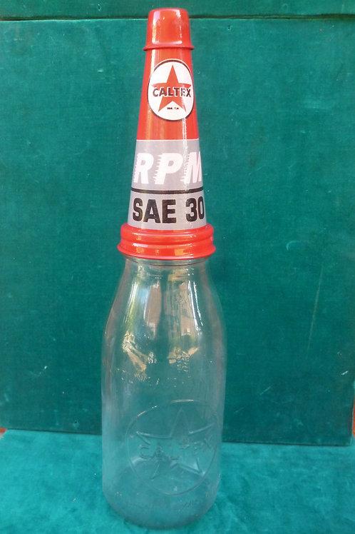 Caltex quart reproduction oil bottle